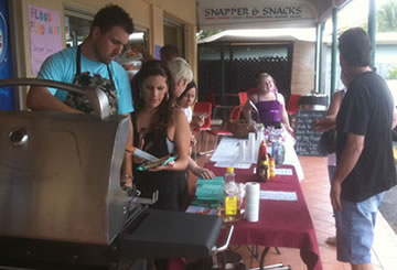 Sausage sizzle fundraiser at Special FX Hair Studio