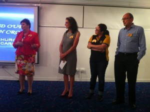 Some of the Carindale Rotary members chatting to the Carindale Community Forum about their club.