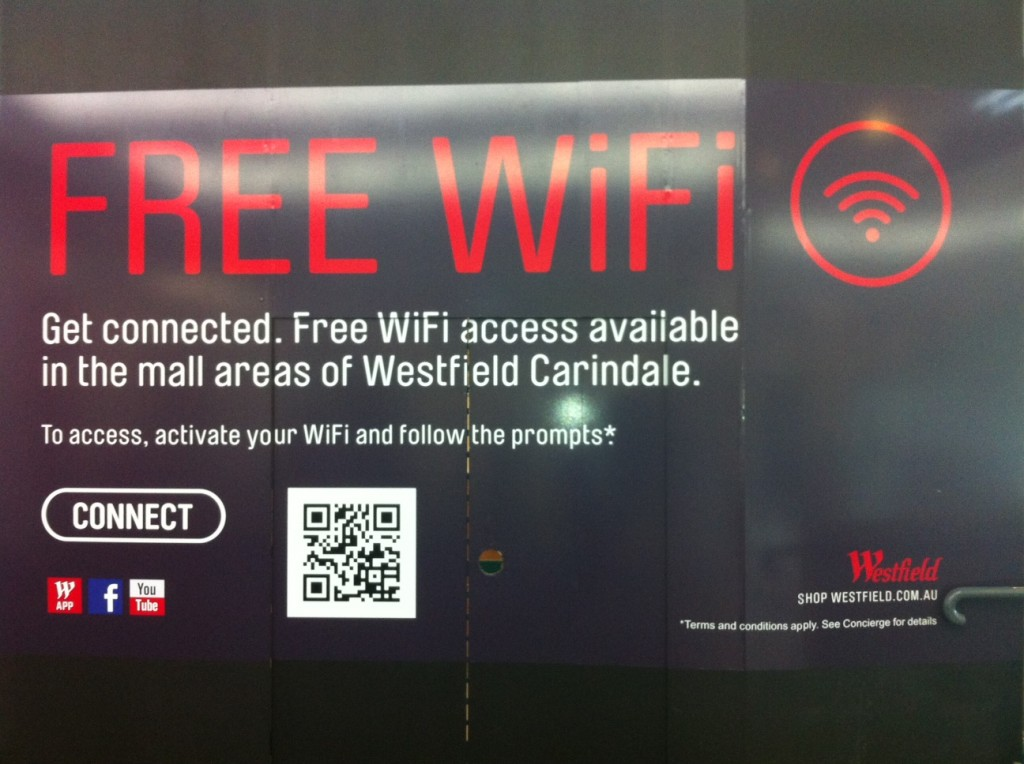 Wifi at Carindale Westfield