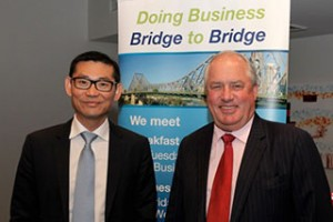 Kee Wong of e-CentricInnovations and Russell Shields of ANZ