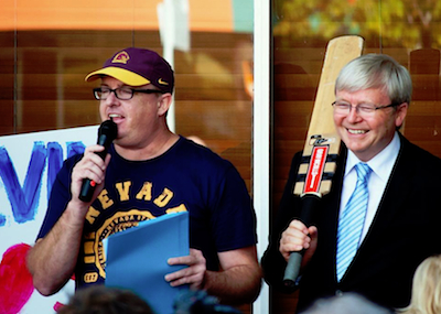 Nigel Gibson and Kevin Rudd