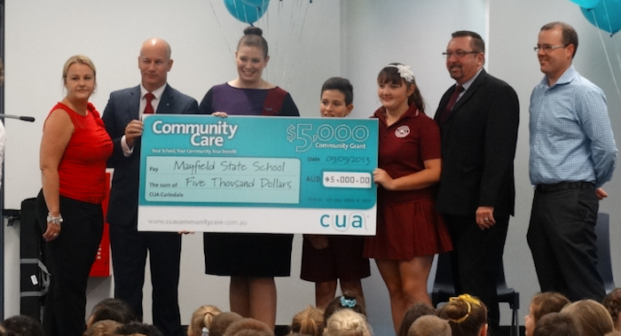 Mayfield State Schools get cheque from CUA
