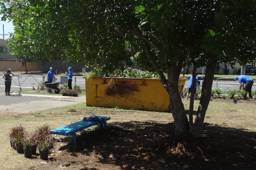 Lend Lease beautifying the grounds at Belmont State School