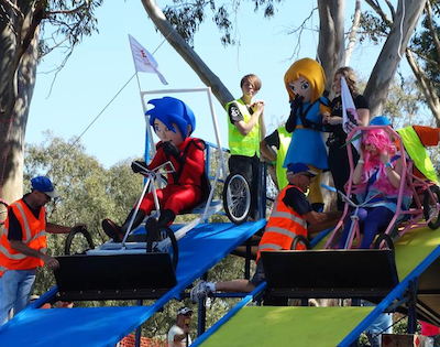 Brisbane Billycart mascot races