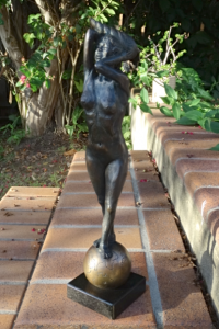 bronze sculpture by Anne-Laure Demene