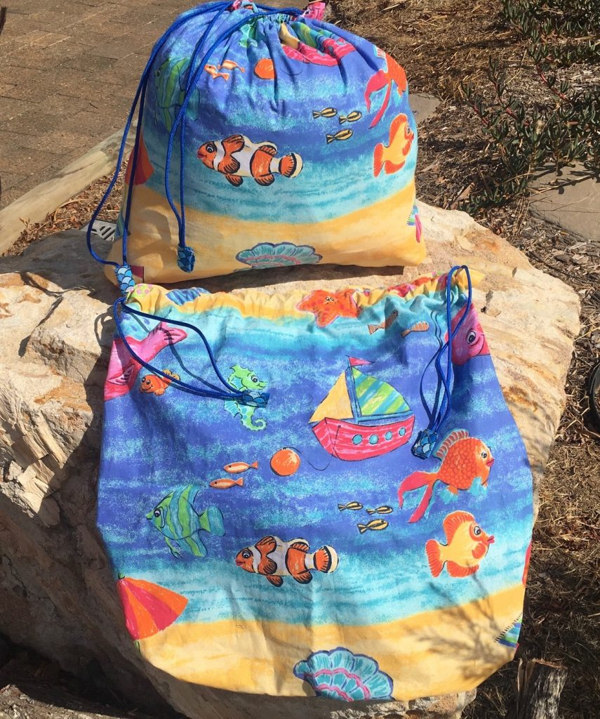 Kids bags - for beach/pool, laundry, toys etc.