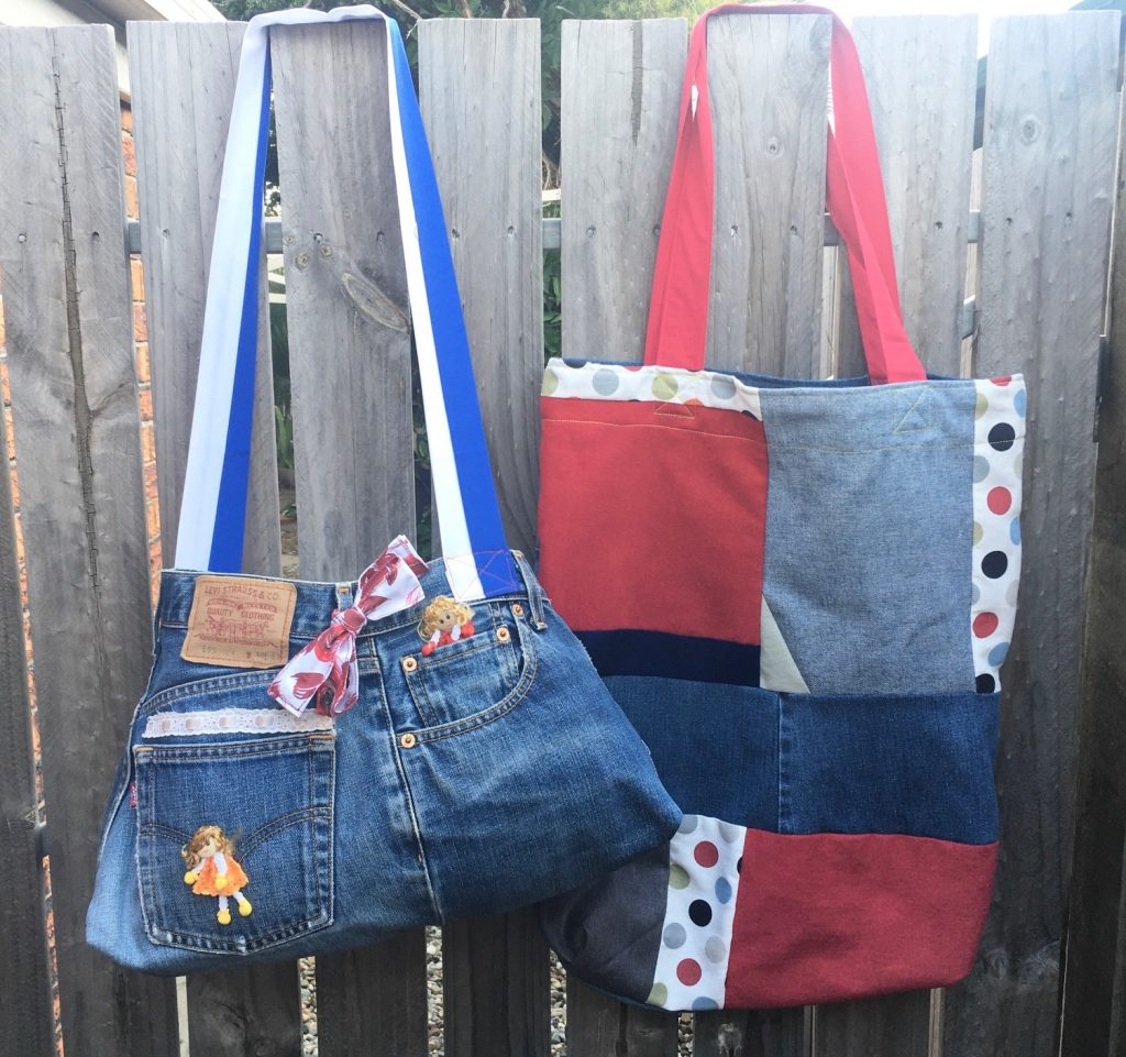Bags made from upcycled jeans and other items - Buy now, Carindale.